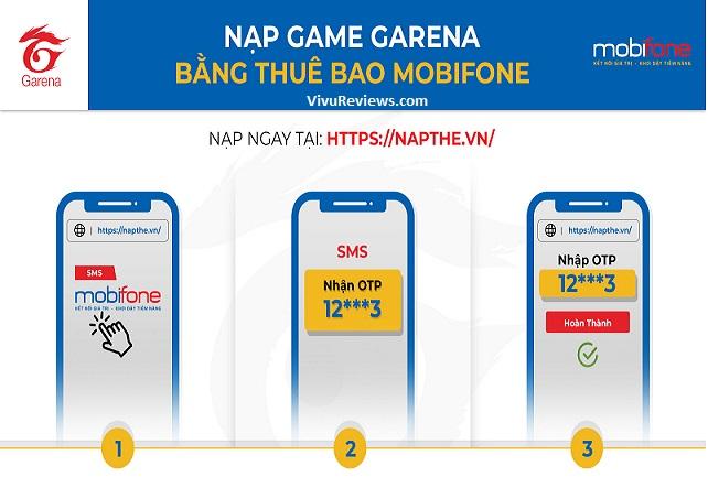 cách mua thẻ garena bằng sms mobi