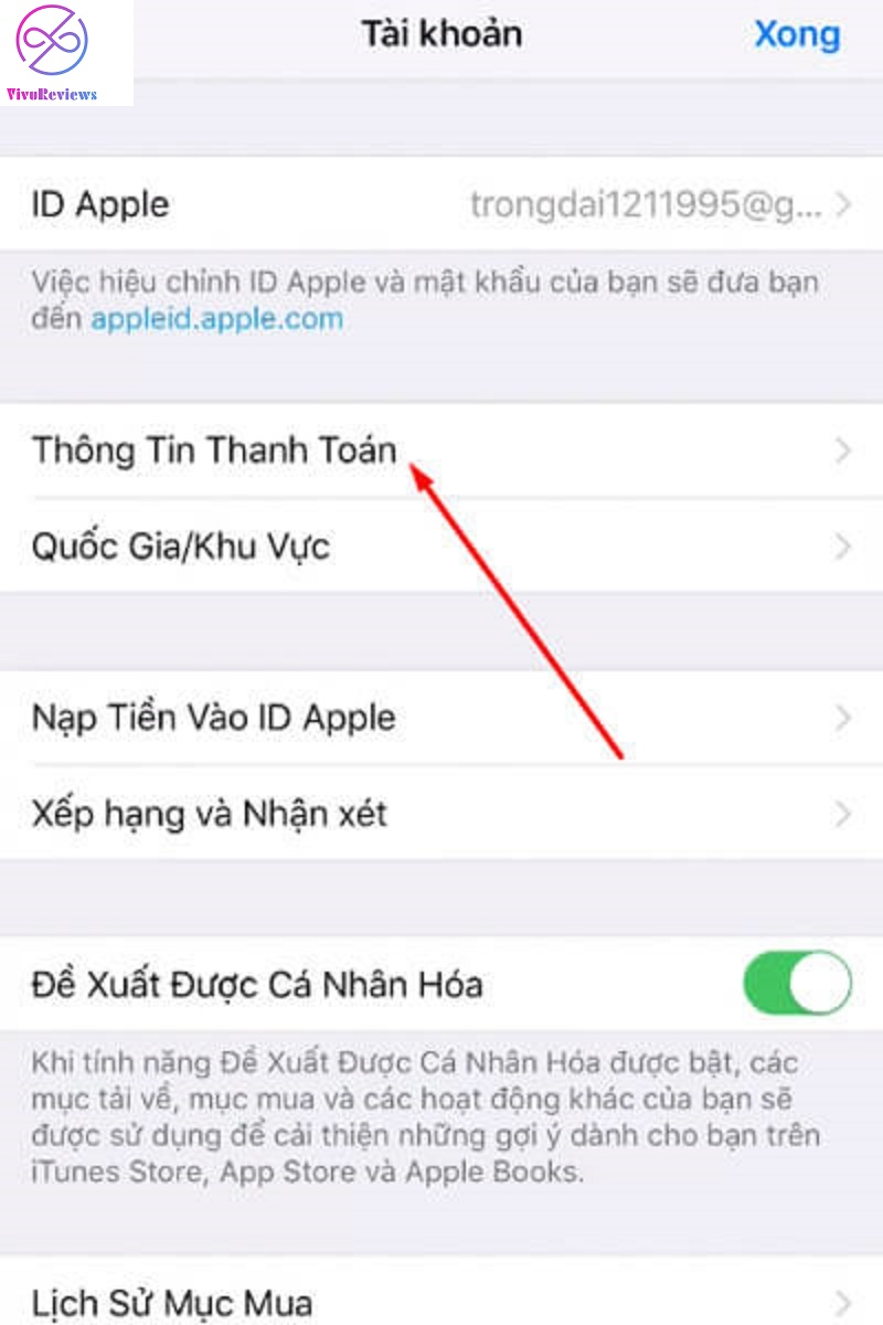 nạp tiền appstore bằng atm