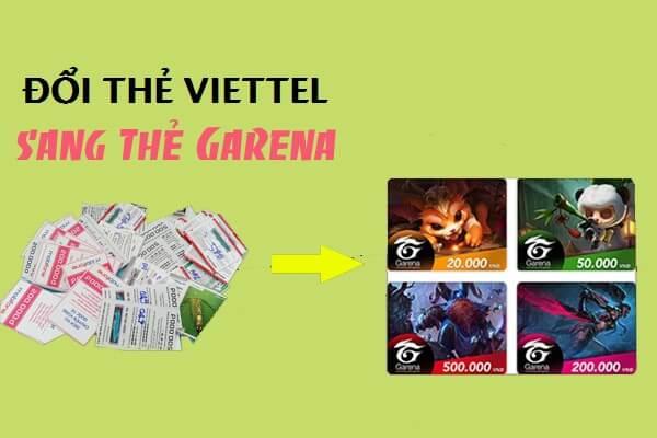 Đổi card viettel sang Garena